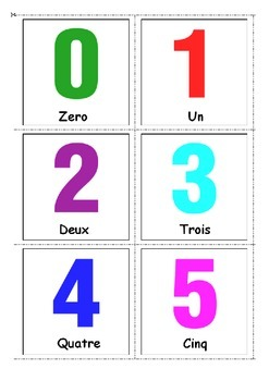 French 0-10 Numbers - Les Nombres 0-10