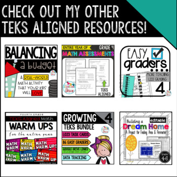 Lines and Angles - 4.6A Math TEKS Resource Bundle