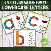 Lowercase Letters Pattern Blocks Spin and Build