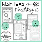 Main Idea Hashtag It Activity
