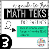 Math TEKS for Parents - 3rd Grade Back to School