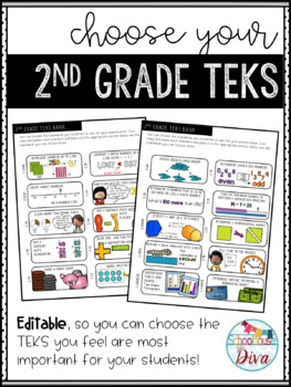 Math TEKS for Parents - 2nd Grade Back to School