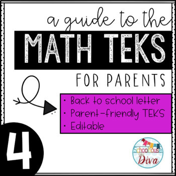 Math TEKS for Parents - 4th Grade Back to School