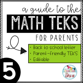 Math TEKS for Parents - 5th Grade Back to School