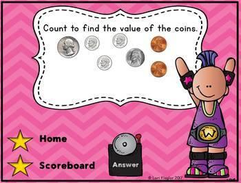 Money Interactive Powerpoint Math Game