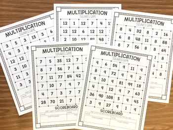 Squares Multiplication Games