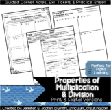 Multiplication and Division Properties Guided Cornell Note