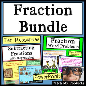 4th Grade Fractions Bundle
