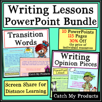Writing Lessons Powerpoint Bundle