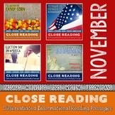 NOVEMBER Close Reading Bundle