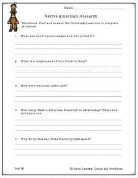 Native American Activities for Multi-Subjects