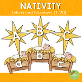 Nativity Christmas Themed Letters and Number Cards