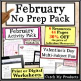 February No Prep Packet