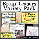 Enrichment Activities for Gifted Students Brain Teaser Var