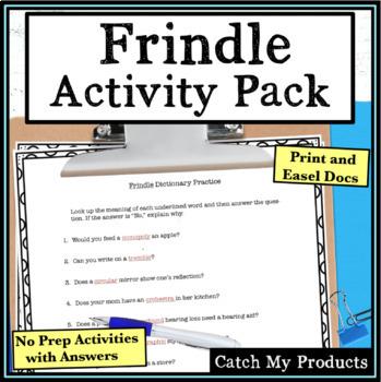Frindle Novel Study Activities
