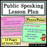 Public Speaking Curriculum in PowerPoint Lesson for Distance Learning