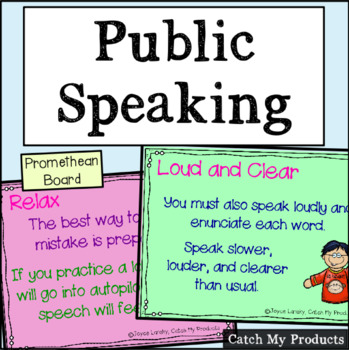 Public Speaking Lessons for PROMETHEAN BOARD