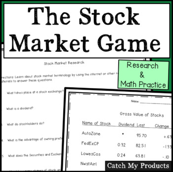 Stock Market Game Activities