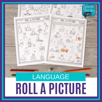 No Prep Language Activity - Roll A Picture