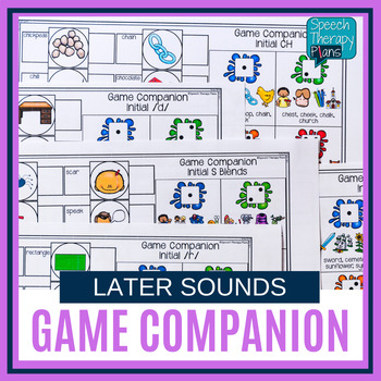No Prep Speech Game Companion for Any Game - Later Sounds