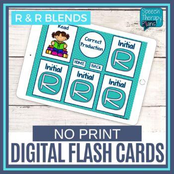No Print Articulation Flash Cards - Prevocalic R, Vocalic R & R Blends