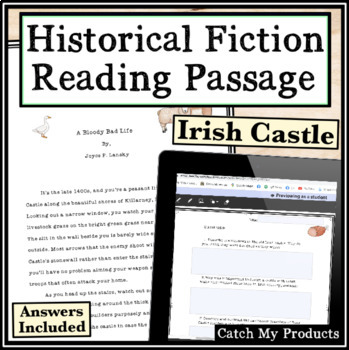 Nonfiction Comprehension / Close Reading Passage Irish Castle 15th Century