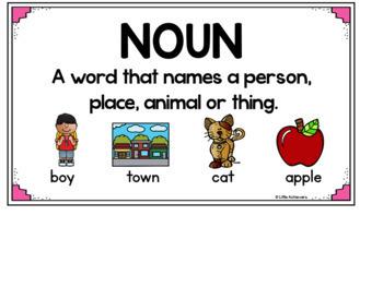 Noun Picture Cards and Noun Sort