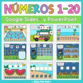 Números del 1 al 20 para Google Classroom™ | Numbers 1-20