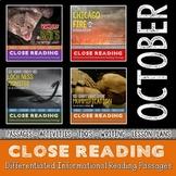 OCTOBER Close Reading Bundle