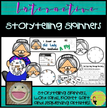 Old Lady Swallowed A Fly: Interactive Storytelling Spinners