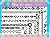 Star Frames/ Borders 8.5 x 11