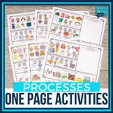 One Page Phonological Processes Activity Placemats