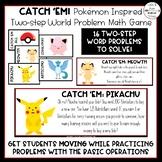 Pokémon Inspired Two Step Word Problem Math Game (2 Editab
