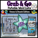 Portable Word Wall: Ocean Thematic Word Lists