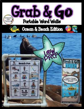 Ocean Word Wall: Beach & Ocean Portable Word Lists