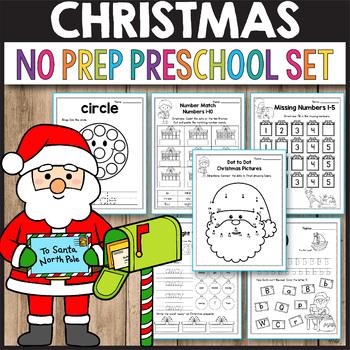 Preschool Christmas Activities for Preschool, Christmas Math Worksheets
