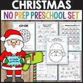 Christmas Math Activities Preschool December Morning Work Kindergarten Winter