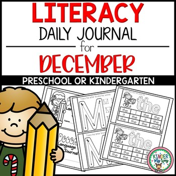 Preschool Literacy Journal for December NO PREP