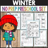 After Winter Break Activity Math Worksheets for Preschool
