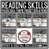 Digital Quick Theme, Main Idea Reading Comprehension Passages Skills & Questions