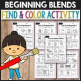 R Blends Worksheets, L Blends Activities - Find the Beginning Blend