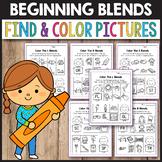 R Blends Worksheets, L Blends Activities - Find the Beginning Blend #harvestdeal