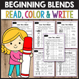 R Blends Worksheets, L Blends Activities - Read, Color and Write