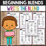 R Blends Worksheets, L Blends Activities - Write the Blend