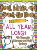 Read, Write, and Count the Room {ALL YEAR LONG} 40+ Thematic Centers