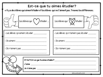 Rentrée scolaire école Interactif Vocabulaire et Grammaire French Back To School