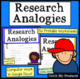 Research Activities to Build Research Skills / Analogy Worksheet BUNDLE