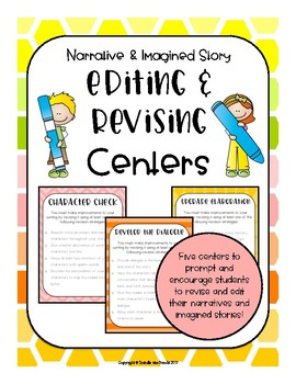 Revising and Editing Interactive Centers (Colorful & Bright Edition)