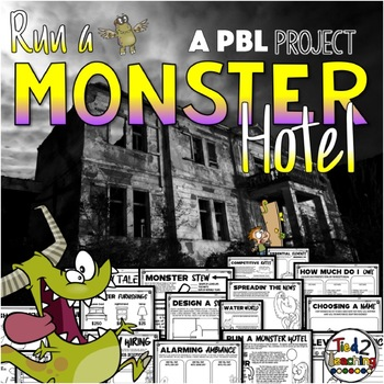 Halloween Project Based Learning PBL Activities Run a Monster Hotel