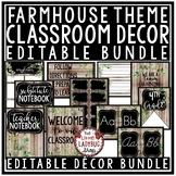 Rustic Farmhouse Classroom Decor EDITABLE Back to School Farmhouse Decor